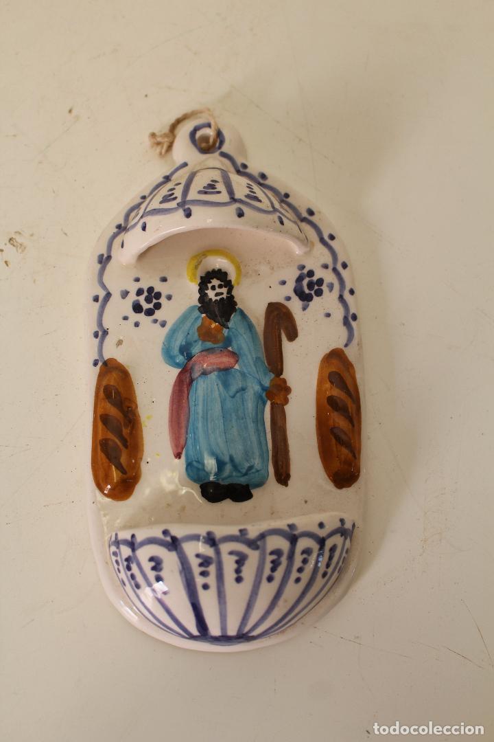 BENDITERA CERAMICA PLAYÁ - LORCA - MURCIA (Antigüedades - Religiosas - Benditeras)