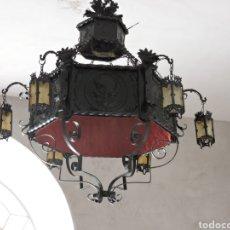 Antigüedades: IMPRESIONANTE LAMPARA ANTIGUA DE FORJA .ESCUELA SEVILLA..PRINCIPIOS DEL SIGLO 20. Lote 262857830