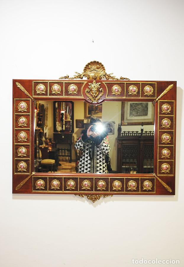 Antigüedades: CONSOLA Y ESPEJO ESTILO IMPERIO - Foto 3 - 262864270