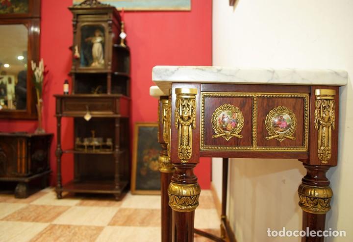 Antigüedades: CONSOLA Y ESPEJO ESTILO IMPERIO - Foto 7 - 262864270
