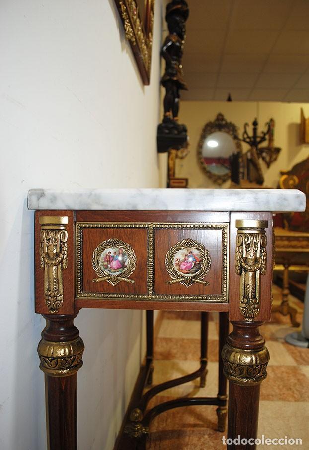 Antigüedades: CONSOLA Y ESPEJO ESTILO IMPERIO - Foto 9 - 262864270