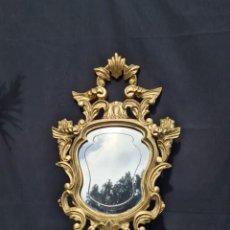 Antigüedades: ESPECTACULAR CORNUCOPIA DE MADERA Y PAN DE ORO. Lote 262867095