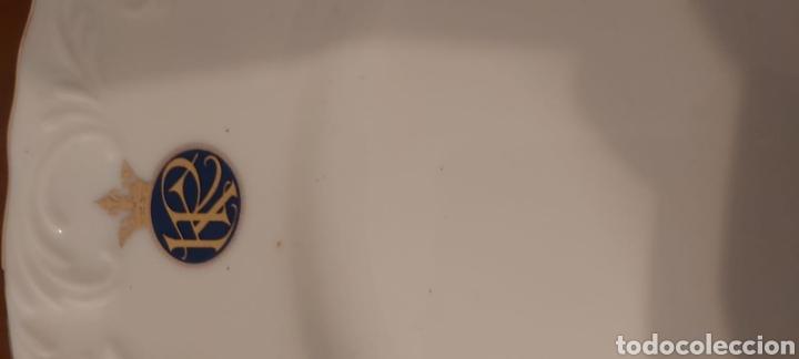 Antigüedades: Vajilla porcelana GEORGE V. Años 90. 35 piezas. Ribetes perfilados en oro. - Foto 12 - 262867640