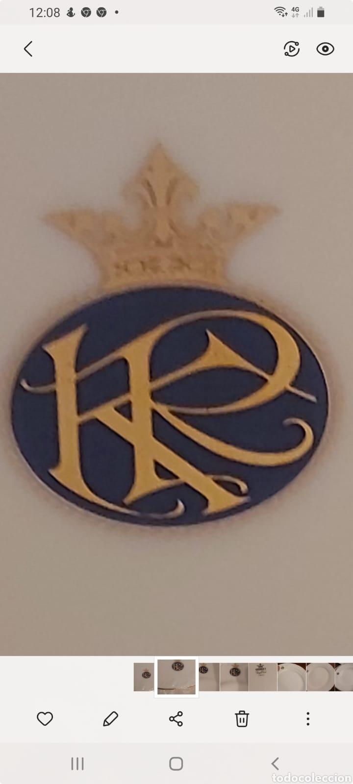 Antigüedades: Vajilla porcelana GEORGE V. Años 90. 35 piezas. Ribetes perfilados en oro. - Foto 15 - 262867640