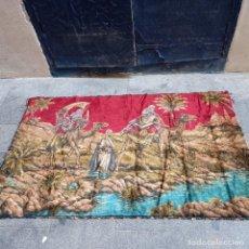 Antigüedades: ANTIGUO TAPIZ MARROQUÍ LIENZO DE GRANDES DIMENSIONES. Lote 262869395
