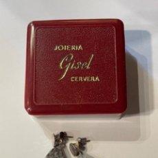 Antigüedades: PENDIENTES DE PLATA CON CONTRASTE 925 MED.: 3 CMS. (GN). Lote 262871100