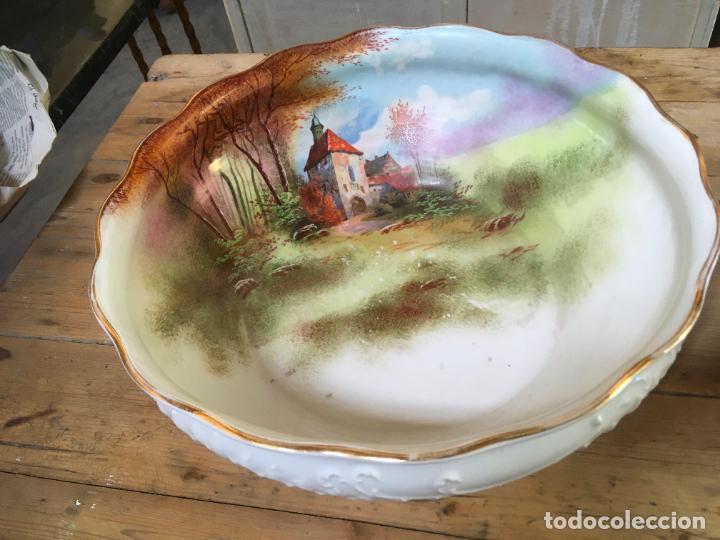 Antigüedades: Jarra de agua para lavabo y palangana en ceramica, gran tamaño, 30 cms alto, 38 x 12 cms - Foto 3 - 262886340