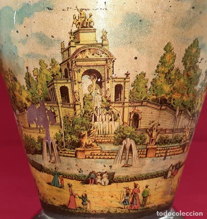 Antigüedades: BOTIJO , ACEITERA DE HOJALATA COMPLETO , MANUFACTURA CATALANA , CON LITOGRAFIA AÑOS 20 - Foto 5 - 262955825