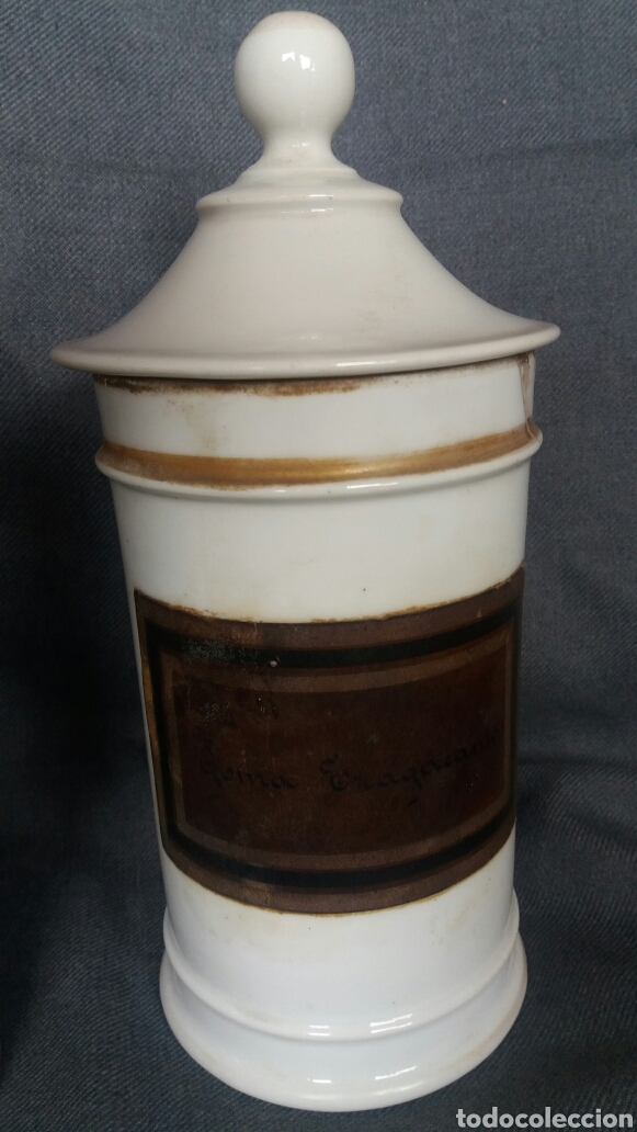Antigüedades: Lote de dos albarelos de farmacia del siglo XIX - Foto 3 - 263007095