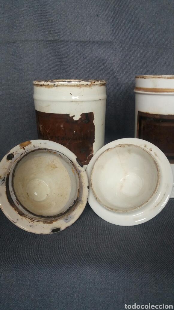 Antigüedades: Lote de dos albarelos de farmacia del siglo XIX - Foto 4 - 263007095