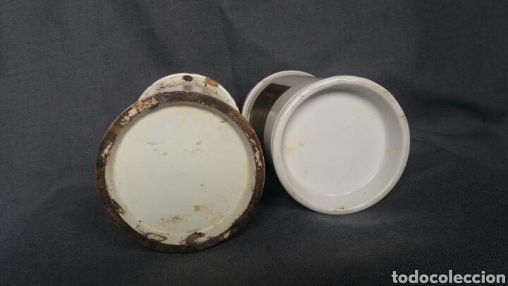 Antigüedades: Lote de dos albarelos de farmacia del siglo XIX - Foto 7 - 263007095
