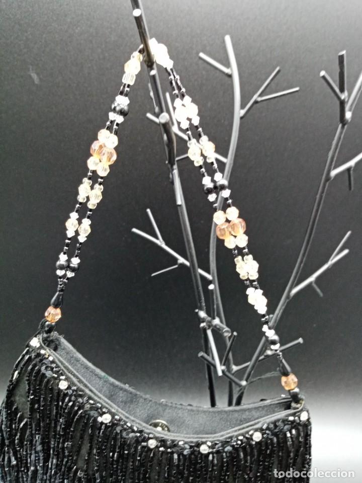 Antigüedades: Bolso negro con abalorios - Foto 2 - 263019690