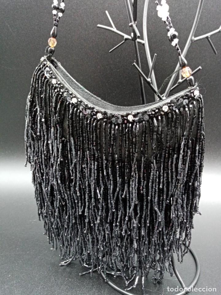 Antigüedades: Bolso negro con abalorios - Foto 4 - 263019690