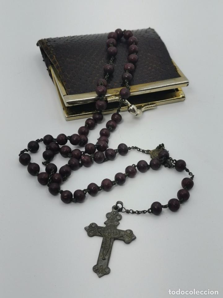 PRECIOSO ANTIGUO ROSARIO EN ESTUCHE. (Antigüedades - Religiosas - Rosarios Antiguos)