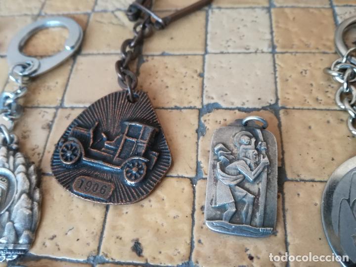 Antigüedades: LOTE 13 LLAVEROS MEDALLAS MONTEPIO SAN CRISTOBAL CHOFERES BARCELONA VIRGEN MONTSERRAT ALGUNO PLATA - Foto 4 - 263030120