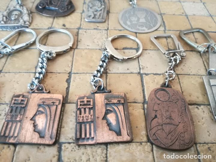 Antigüedades: LOTE 13 LLAVEROS MEDALLAS MONTEPIO SAN CRISTOBAL CHOFERES BARCELONA VIRGEN MONTSERRAT ALGUNO PLATA - Foto 7 - 263030120