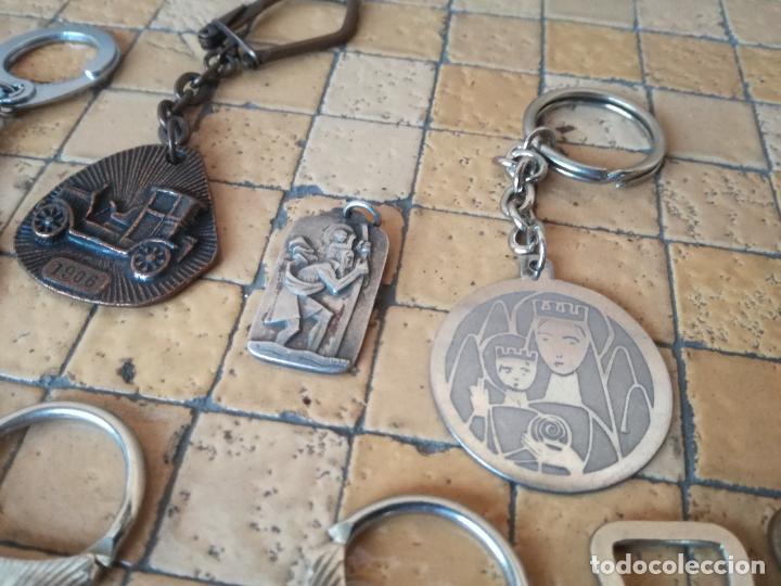 Antigüedades: LOTE 13 LLAVEROS MEDALLAS MONTEPIO SAN CRISTOBAL CHOFERES BARCELONA VIRGEN MONTSERRAT ALGUNO PLATA - Foto 9 - 263030120