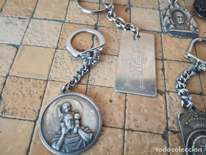 Antigüedades: LOTE 13 LLAVEROS MEDALLAS MONTEPIO SAN CRISTOBAL CHOFERES BARCELONA VIRGEN MONTSERRAT ALGUNO PLATA - Foto 10 - 263030120
