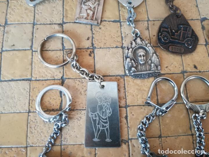 Antigüedades: LOTE 13 LLAVEROS MEDALLAS MONTEPIO SAN CRISTOBAL CHOFERES BARCELONA VIRGEN MONTSERRAT ALGUNO PLATA - Foto 12 - 263030120