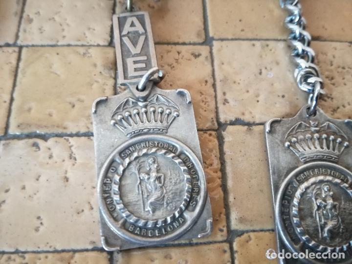 Antigüedades: LOTE 13 LLAVEROS MEDALLAS MONTEPIO SAN CRISTOBAL CHOFERES BARCELONA VIRGEN MONTSERRAT ALGUNO PLATA - Foto 17 - 263030120