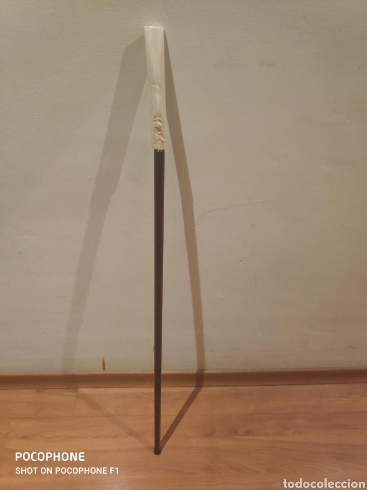 Antigüedades: Trio de bastones finales s.XIX empuñadura en marfil - Foto 12 - 263032535