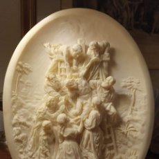 Antigüedades: RELIEVE DE MARMOLINA. DESCENDIMIENTO DE LA CRUZ SEGÚN RUBENS. Lote 263045605