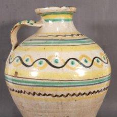 Antigüedades: VASIJA EN CERÁMICA DE TERUEL SIGLO XIX - 36 CM X 20 CM. Lote 263048515