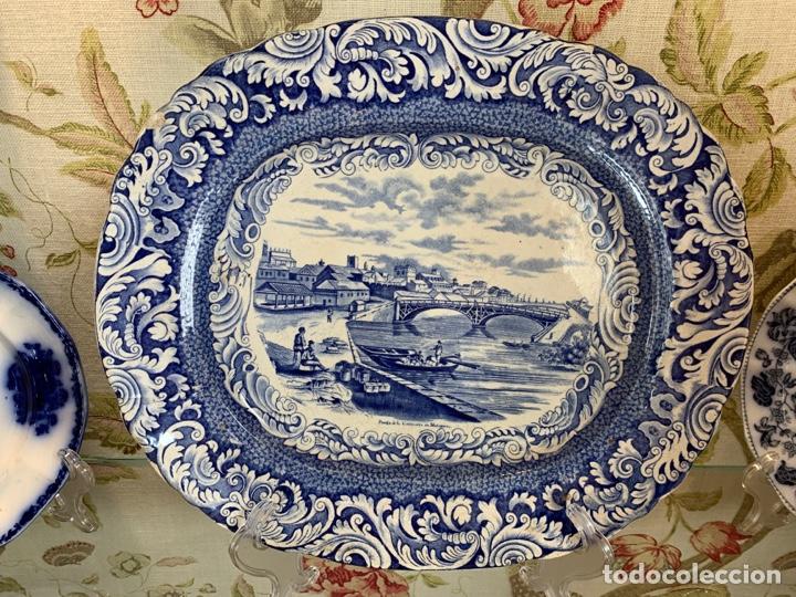FABULOSA FUENTE DE SARGADELOS VISTAS DE CUBA (Antigüedades - Porcelanas y Cerámicas - Sargadelos)