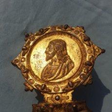 Oggetti Antichi: MUY ANTIGUO PORTA PAZ, CRISTO Y QUERUBINES. Lote 263055530