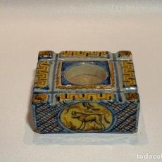 Antigüedades: TINTERO DE CERÁMICA DE TRIANA. Lote 263066145