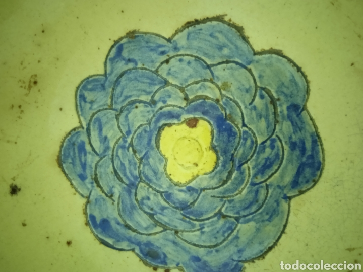 Antigüedades: Un plato hondo pequeño muy antiguo .está firmado - Foto 5 - 263076280