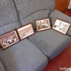Antigüedades: 4 MARCOS ANTIGUOS CON MOTIBOS DE EPOCA ALBACETE,MIRALOS. Lote 263076805