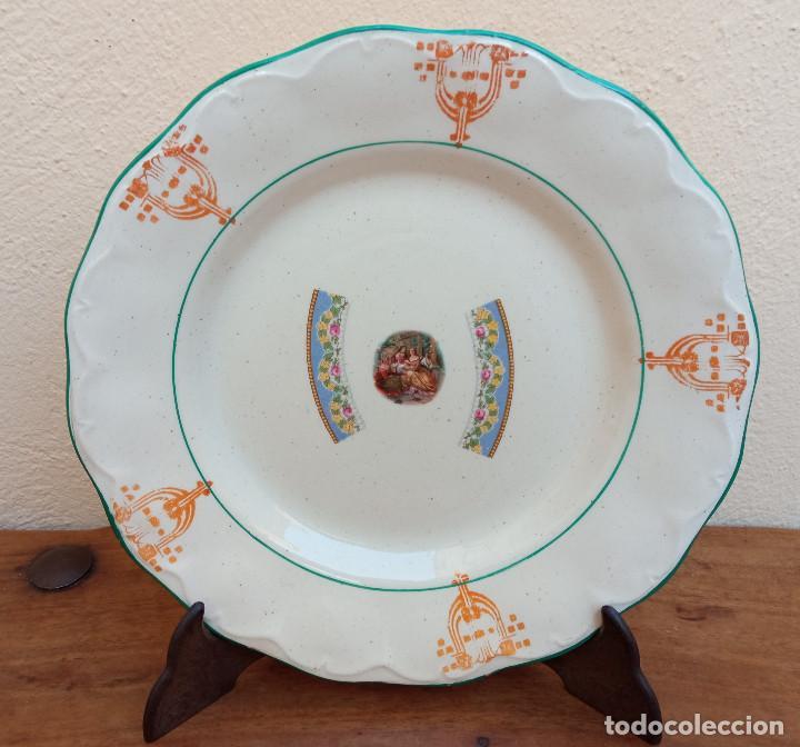 ANTIGUO PLATO DE LOZA PORCELANA SAN JUAN, MIDE 24 CM DIÁMETRO. (Antigüedades - Porcelanas y Cerámicas - San Juan de Aznalfarache)