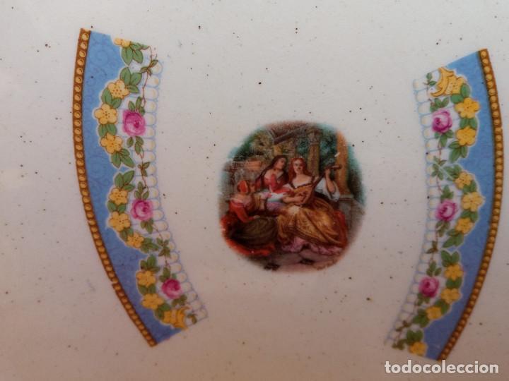 Antigüedades: ANTIGUO PLATO DE LOZA PORCELANA SAN JUAN, MIDE 24 CM DIÁMETRO. - Foto 3 - 263080615