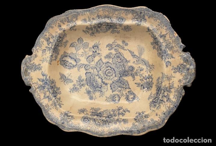 ANTIGUA FUENTE INGLESA, SELLO, MARCAS, PRECIOSA , MUY BIEN CONSERVADA. (Antigüedades - Porcelanas y Cerámicas - Inglesa, Bristol y Otros)