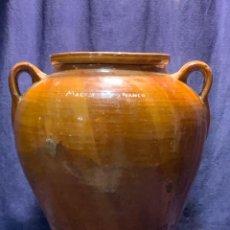 Antigüedades: GRAN ORZA MATANZA CERAMICA BARRO VIDRIADO PPIO S XX 47X40CMS. Lote 263118530
