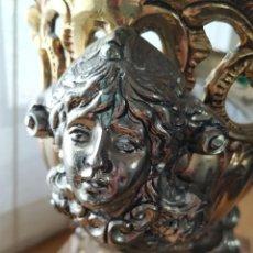 Antigüedades: CENTRO DE MESA CON PEANA DE MÁRMOL. Lote 263135555