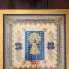 Antigüedades: CUADRO RELICARIO VIRGEN DEL PILAR. Lote 263139535
