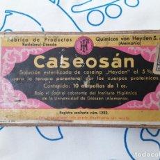 Antigüedades: CAJA ANTIGUA ( 1943 ) CASEOSAN. Lote 263142380