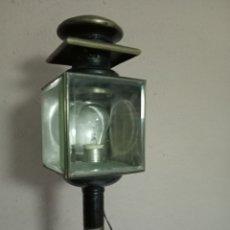 Antigüedades: FAROL DE CARRUAJE ,55 CM, ELECTRIFICADO. Lote 263167750
