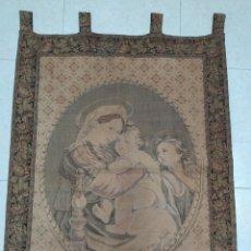 Antigüedades: ANTIGUO TAPIZ VIRGEN DE LA SILLA RAPHAEL. Lote 263172710