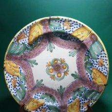 Antigüedades: ANTIGUO Y GRAN PLATO DE CERAMICA RIBESALBES SG.XIX.. Lote 263187495