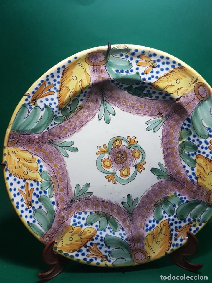 Antigüedades: ANTIGUO Y GRAN PLATO DE CERAMICA RIBESALBES SG.XIX. - Foto 5 - 263187495