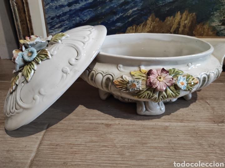 Antigüedades: Lavorazione Ceramiche Speciali , sopera de porcelana italiana LCS. Capodimonte - Foto 5 - 263195465
