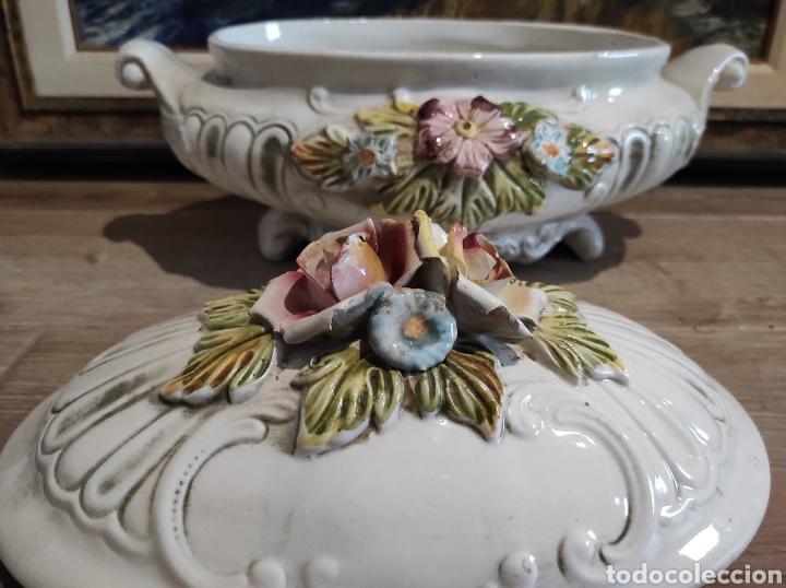 Antigüedades: Lavorazione Ceramiche Speciali , sopera de porcelana italiana LCS. Capodimonte - Foto 6 - 263195465