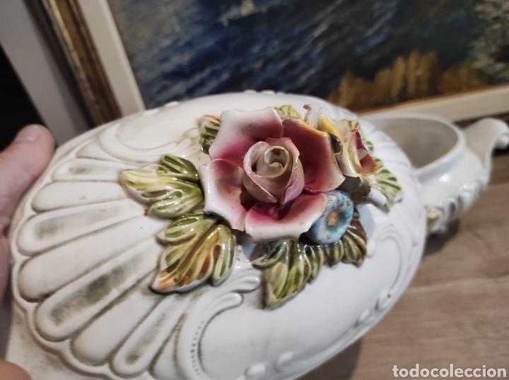 Antigüedades: Lavorazione Ceramiche Speciali , sopera de porcelana italiana LCS. Capodimonte - Foto 7 - 263195465