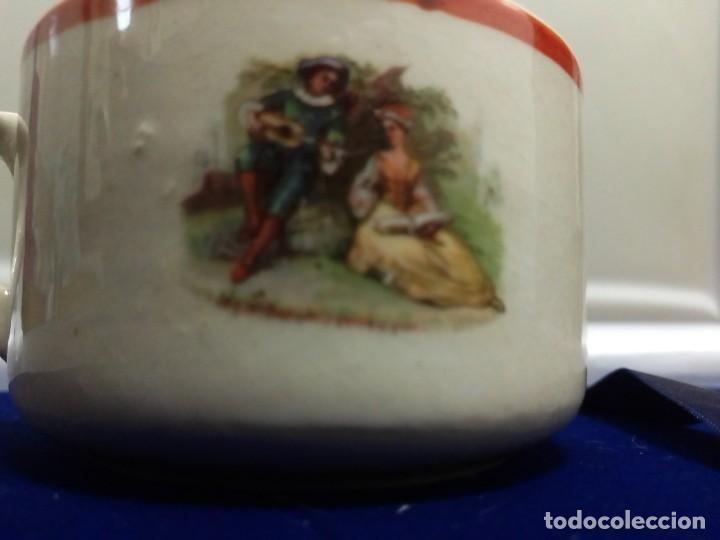 Antigüedades: Taza cerámica antigua Fábrica San Claudio. Oviedo - Foto 2 - 263217790