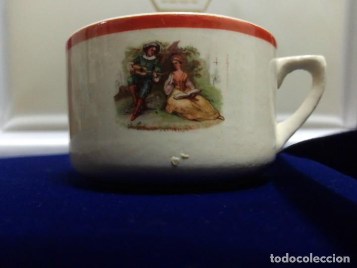 Antigüedades: Taza cerámica antigua Fábrica San Claudio. Oviedo - Foto 6 - 263217790