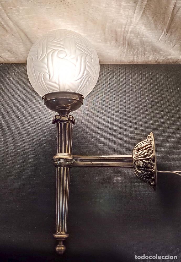 Antigüedades: EXCELENTE APLIQUE ESTILO IMPERIO, LUZ, ,LAMPARA, DE BRONCE - Foto 2 - 263234125