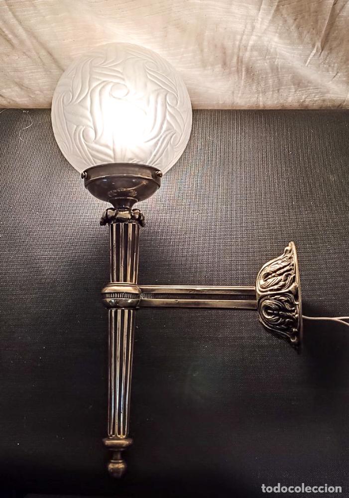 Antigüedades: EXCELENTE APLIQUE ESTILO IMPERIO, LUZ, ,LAMPARA, DE BRONCE - Foto 4 - 263234125